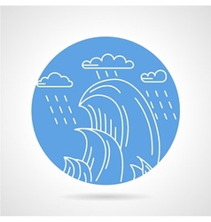 Waves and rain round icon vector image vector image