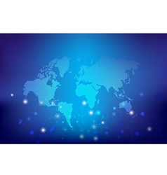 Abstract background world map and connection vector