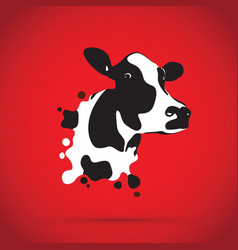 abstract cow head vector image