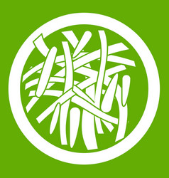 Asian salad icon green vector