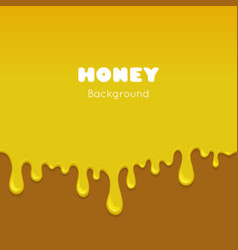 background with flowing honey vector image