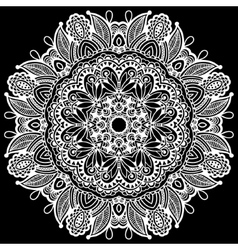 black and white beautiful vintage circular pattern vector image