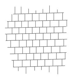 Brick wall black and white vector