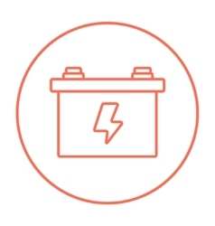 Car battery line icon vector