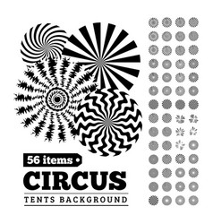 circus tents backgrounds or circular vector image