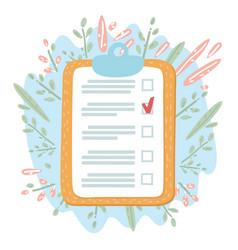 clipboard checklist with pencil mark vector image