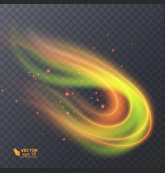 Colorful light neon effect abstract particles vector