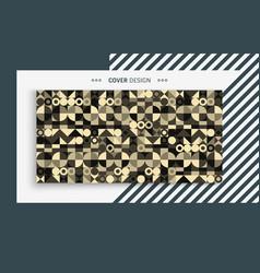 cover design template colorful geometric design vector image