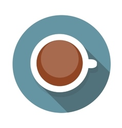 Cup of Coffee Flat Icon with Long Shadow vector