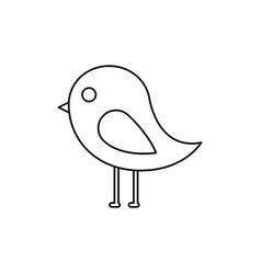 cute bird animal wild nature vector image vector image