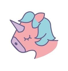 Cute fantasy unicorn icon vector image