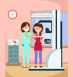 Dental x ray radiography procedure vector