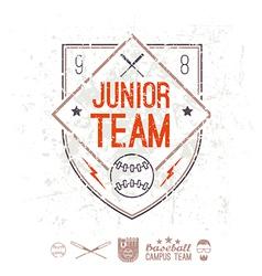 Emblem baseball junior college team vector image