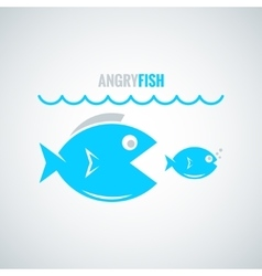 Fish concept design background vector