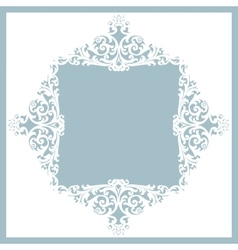 frame with ornament vector image