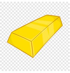 Gold ingot icon in cartoon style vector
