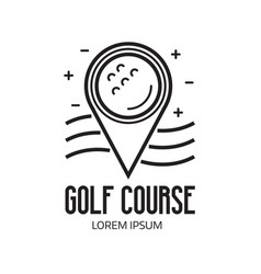 Golf course pin emblem vector