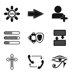 graphic element icons set simple style vector image