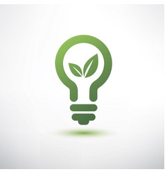 green eco energy concept plant growing inside the vector image