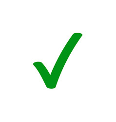 green tick checkmark icon vector image