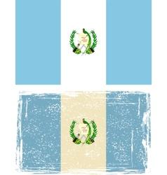 Guatemala grunge flag vector