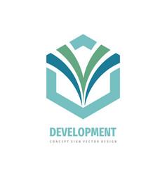 hexagon - business logo template concept vector image