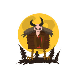 house forest witch standing on chicken feet vector image