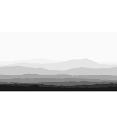 Landscape with huge mountain range vector