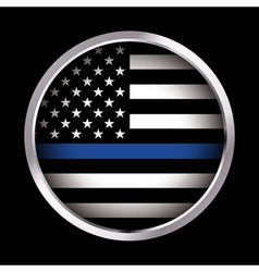 Law Enforcement Support Emblem and Icon vector image