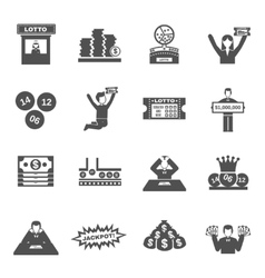 Lottery Icons Set vector