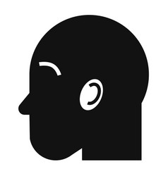 man head icon simple style vector image