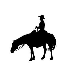 Man on a horse vector