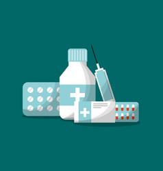 medicine health care set vector image