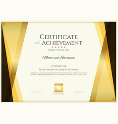 Modern certificate template with elegant border vector