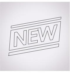new icon vector image
