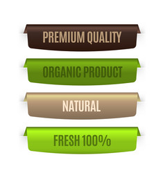 organic natural labels eco banners template vector image