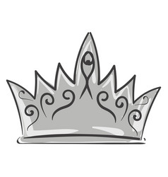 Painting a silver crown or color vector