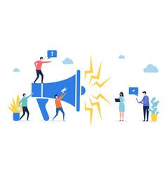 promotion concept target marketing social vector image