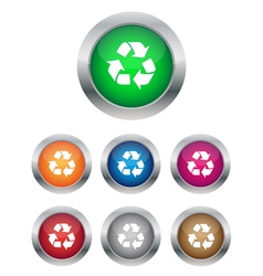 Recycle buttons vector image