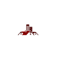 Red building logo template vector