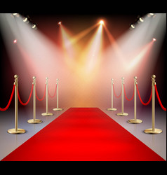 Red carpet in illumination composition vector
