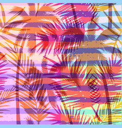 Seamless exotic pattern with tropical palm on vector
