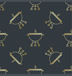 Seamless pattern with brazier or grill vector