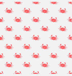 seamless pattern with red crabs on white vector image