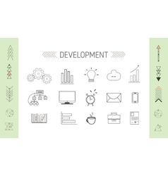 SEO and Developmrent Icons vector