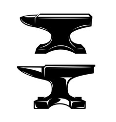 Set blacksmith anvil design element vector