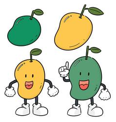 set of mango vector image