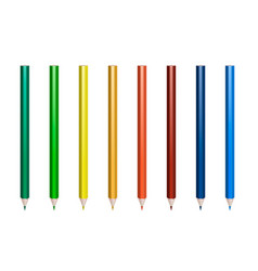 set of pencils for coloring vector image