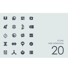Set of web operation icons vector