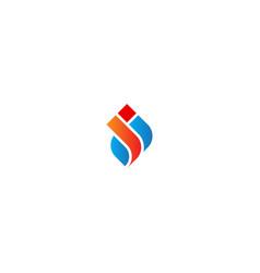shape abstract initial company logo vector image